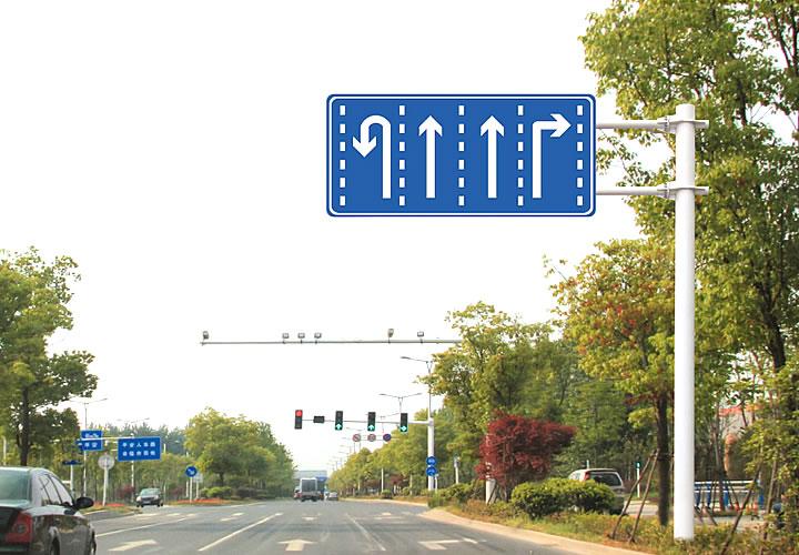 2F悬臂交通指示标志杆