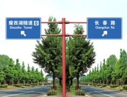 双悬臂T型交通标志杆